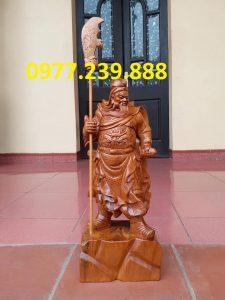 Tượng Quan Vân Trường bách xanh 30cm
