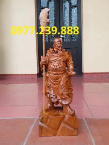 Tượng Quan Vân Trường bách xanh 40cm