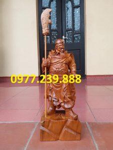 Tượng Quan Vân Trường bách xanh 50cm