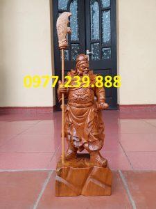 Tượng Quan Vân Trường bằng gỗ bách xanh 30cm