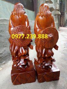 bán đạt ma sư tổ bằng gỗ hương đá