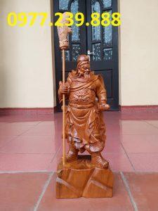 bán Tượng Quan Vân Trường bằng gỗ bách xanh