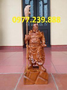 bán Tượng Quan Vân Trường bằng gỗ bách xanh 30cm