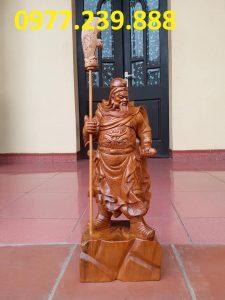 bán Tượng Quan Vân Trường bằng gỗ bách xanh 40cm