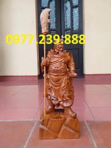 bán Tượng Quan Vân Trường bằng gỗ bách xanh 50cm