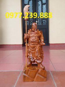 bán Tượng Quan Vân Trường gỗ bách xanh