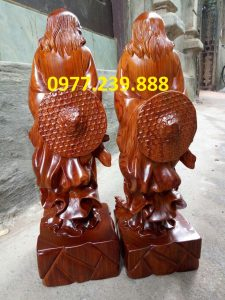 bán tượng Đạt ma phong thủy bằng gỗ
