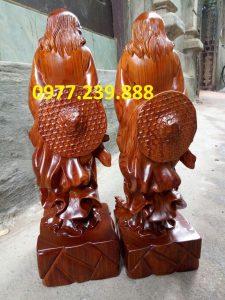 bán tượng Đạt ma phong thủy gỗ