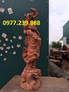 bán tượng đạt ma bằng gỗ hương đá