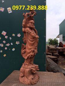 bán tượng đạt ma bằng gỗ hương đỏ