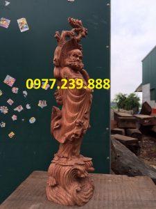 bán tượng đạt ma bằng gỗ hương lào