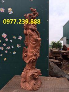 bán tượng đạt ma bằng gỗ hương nam phi