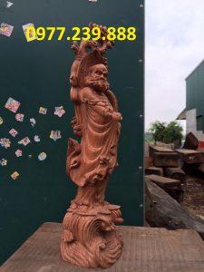 bán tượng đạt ma gỗ hương