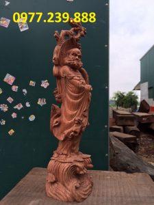 bán tượng đạt ma gỗ hương lào