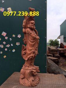 bán tượng đạt ma gỗ hương nam phi