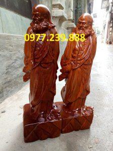 bán tượng đạt ma phong thủy gỗ giá