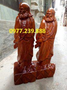 bán tượng đạt ma phong thủy gỗ hương 70cm