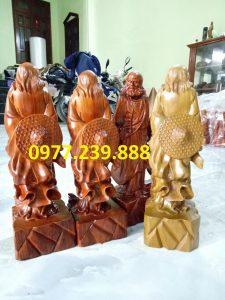 bán tượng gỗ đạt ma bằng gỗ hương