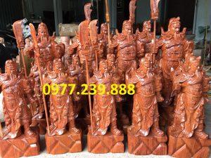 bán tượng phong thủy quan công bằng gỗ