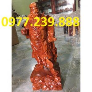 bán tượng quan công gỗ hương đá