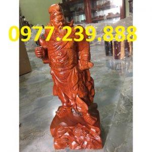 bán tượng quan công gỗ hương đỏ