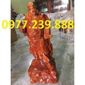 bán tượng quan công gỗ hương