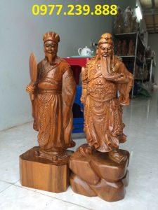 bán tượng quan công phong thủy bằng gỗ