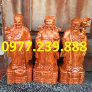 bán tượng tam đa đầu nhỏ gỗ hương 40cm
