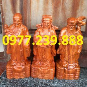bán tượng tam đa đầu nhỏ gỗ hương 50cm