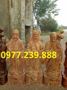 bán tượng tam đa đầu nhỏ gỗ huyết long 40cm