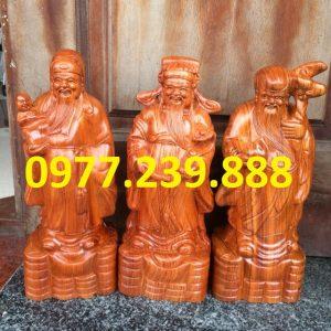 bán tam đa đầu nhỏ bằng gỗ hương đá