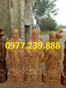 bán tam đa đầu nhỏ gỗ huyết long 30cm