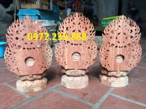 bộ tượng tam thế phật gỗ hương đỏ