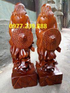 tượng Đạt ma phong thủy bằng gỗ hương ta
