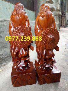 tượng Đạt ma phong thủy gỗ