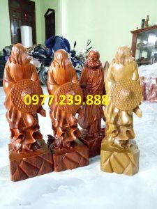 tượng đạt ma đứng bằng gỗ hương lào