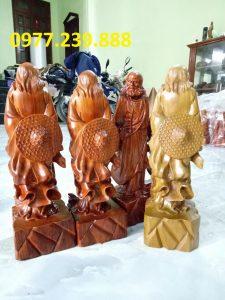 tượng đạt ma đứng bằng gỗ hương việt