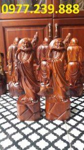 tượng đạt ma đứng gỗ hương