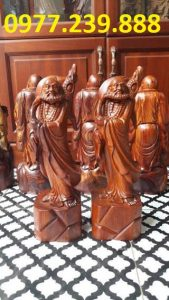 tượng đạt ma đứng gỗ hương lào