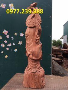 tượng đạt ma đứng gỗ hương nam phi