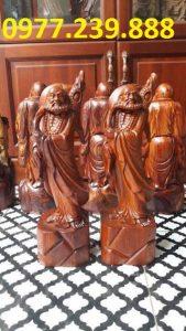 tượng đạt ma đứng gỗ hương việt