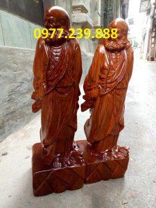 tượng đạt ma bằng gỗ hương 40cm