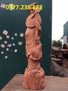 tượng đạt ma gỗ hương đá