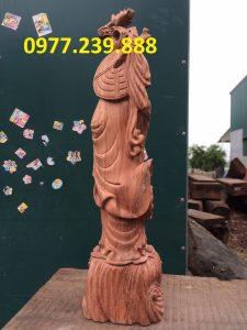 tượng đạt ma gỗ hương đỏ