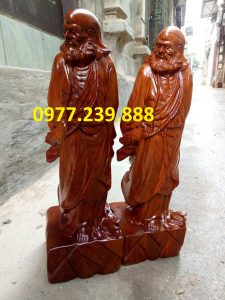 tượng đạt ma gỗ hương 30cm