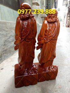 tượng đạt ma gỗ hương 40cm