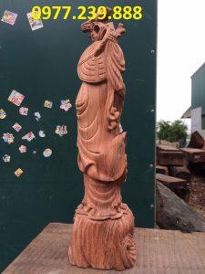 tượng đạt ma gỗ hương ta