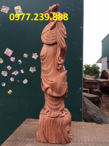 tượng đạt ma gỗ hương việt