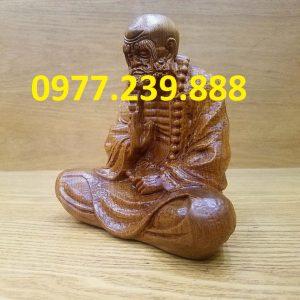tượng đạt ma ngồi bằng gỗ bách xanh