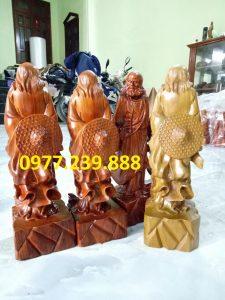 tượng gỗ đạt ma đứng bằng gỗ hương